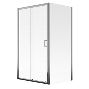 Image of Aqualux Edge 6 Rectangular Clear glass Shower Shower enclosure with Sliding door (W)1200mm (D)760mm