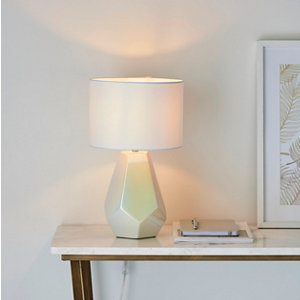 Image of Harbour Studio Eliza Pearlescent Pearlescent Chrome effect Table light