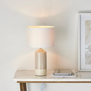 Image of Harbour Studio Hado Gloss Taupe & white Table light