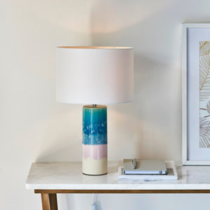 Image of Harbour Studio Dongil Gloss Blue & white Table light