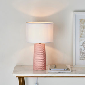 Image of Harbour Studio Pinhole Honeycomb Matt Pink Table light