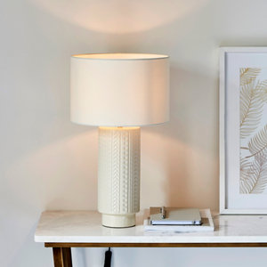 Image of Harbour Studio Trail Imprinted Gloss Ivory Table light