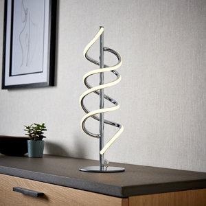 Spiral Chrome effect LED Table lamp