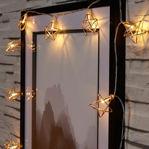 Wire star Battery-powered Warm white 10 LED Indoor String lights