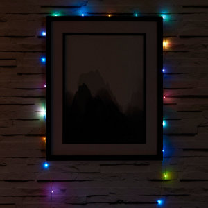 Battery-powered Multicolour 50 LED Indoor String lights
