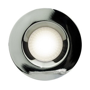 Image of Luceco Chrome effect Non-adjustable Fire-rated Downlight IP20