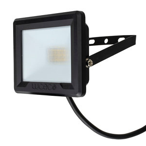 Image of Luceco Black Mains-powered Cool white LED Floodlight 800lm