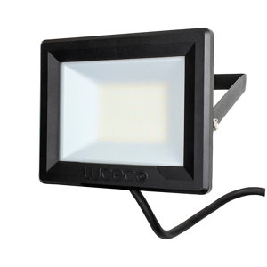 Image of Luceco Black Mains-powered Cool white LED Floodlight 2400lm