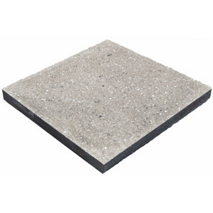 Panache ground Silver grey Paving slab (L)450mm (W)450mm Pack of 40