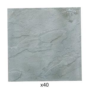 Peak Grey Paving slab (L)450mm (W)450mm Pack of 40