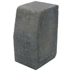 Image of Grey Block kerb (L)200mm (W)100mm (T)125mm