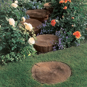 Antique brown Stepping stone