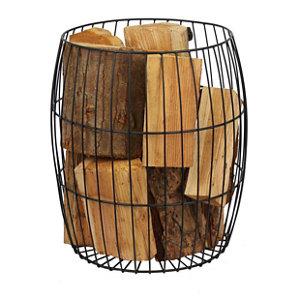 Image of Slemcka Contemporary Log basket (H) 520mm (D)260mm