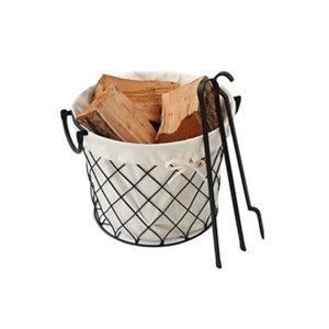 Image of Slemcka Fireside Log basket (H) 290mm (D)360mm