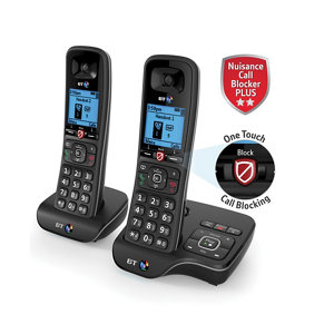 BT DECT Black Telephone with Nuisance call blocker & answer machine