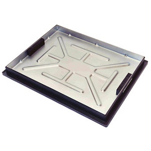 Image of Clark Rectangular Framed Recessed 5t Manhole cover (L)600mm (W)450mm (T)55mm