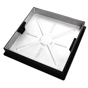 Clark Square Framed Recessed 10t Manhole cover  (L)450mm (W)580mm (T)54mm