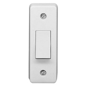 Image of Crabtree 10A 2 way White Single Architrave Switch