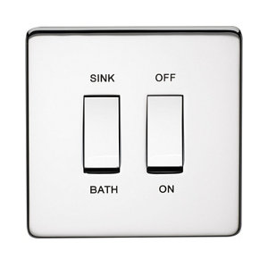 Image of Crabtree 20A Chrome effect Rocker Control switch