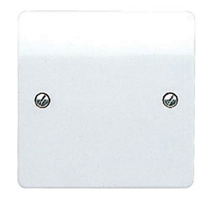 Image of MK Gloss white Single Blanking plate