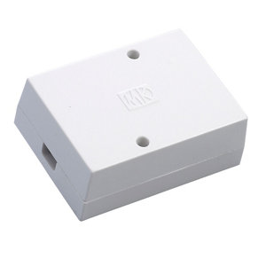 Image of MK White 30A 3 way Junction box 86mm