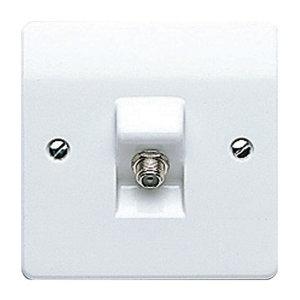 Image of MK White Single F-type socket