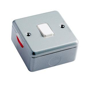 Image of MK 10A 2 way Single Grey Metal-clad switch
