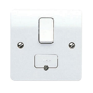 Image of MK 13A Gloss white Switched Fused connection unit