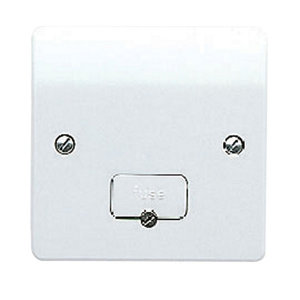 Image of MK 13A White Gloss Switched Fused connection unit