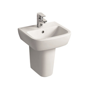 Armitage Shanks Tempo D-shaped Wall-mounted Cloakroom Basin (W)40cm