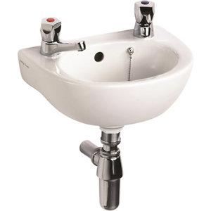 Ideal Standard Sandringham 21 D-shaped Wall-mounted Cloakroom Basin (W)35cm