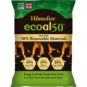 Image of Homefire Ecoal Smokeless Soild fuel briquettes 10kg