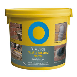 Image of Blue Circle Quality assured Ready mixed Mortar 5kg Tub