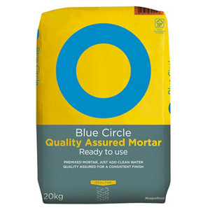 Image of Blue Circle Quality assured Ready mixed Mortar 20kg Bag