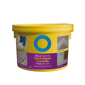 Image of Blue Circle Quick repair Ready mixed Concrete 2.5kg Tub