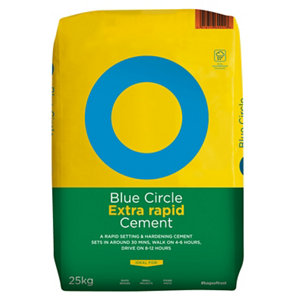 Image of Blue Circle Extra rapid Cement 25kg Bag