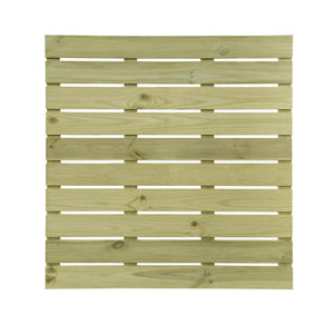 Image of Durance Green Softwood Deck tile (L)1m (W)1000mm (T)28mm