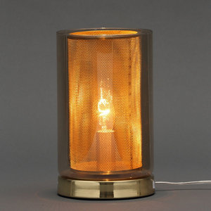 Inlight Forde Mesh Satin Brass & champagne Table lamp