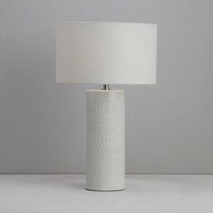 Image of Dactyl Embossed ceramic White Table light