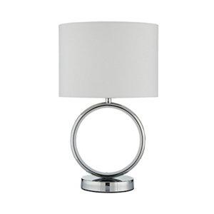 Inlight APEX Mirrored Chrome & white LED Circular Table lamp