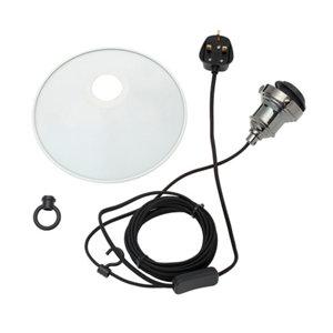 Image of Inlight White Steel Pendant set