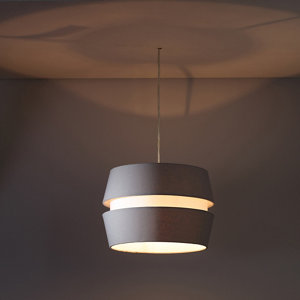 Image of Colours Cassio Light grey Two tier Light shade (D)330mm