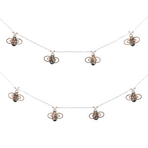 Image of Inlight Bee shape Solar-powered Warm white 10 LED Outdoor String lights