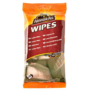 Image of Armor All Unscented Leather wipes Pack of 15