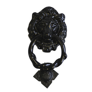 Image of The House Nameplate Company Black Iron Lion Door knocker