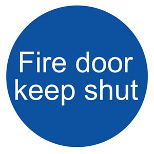 Image of Fire door keep shut Fire information sign (H)100mm (W)100mm