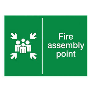 Image of Fire assembly point Fire information sign (H)150mm (W)200mm
