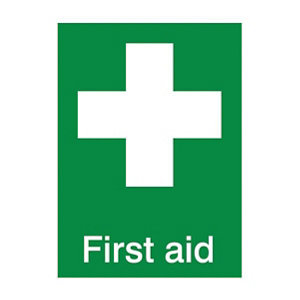 Image of First aid Self-adhesive labels (H)200mm (W)150mm