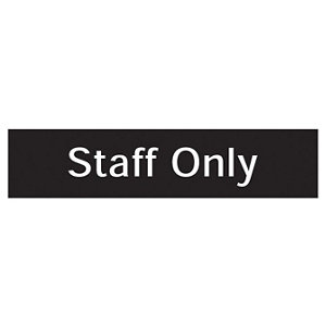 Image of Staff only Self-adhesive labels (H)50mm (W)200mm