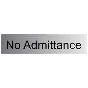 Image of No admittance Self-adhesive labels (H)50mm (W)225mm